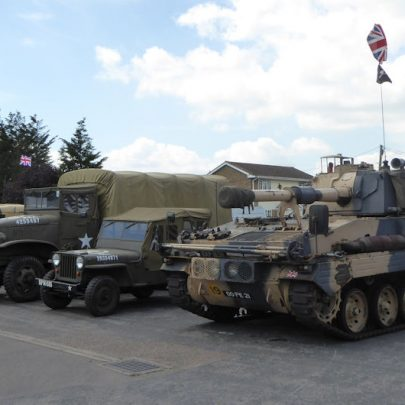 The military vehicles in the parade | Janet Penn