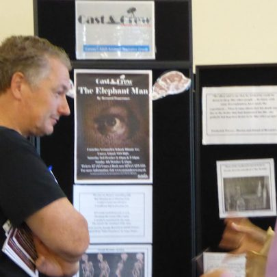 Martin from Cast and Crew advertising their latest production The Elephant Man which is on next weekend   Janet Penn