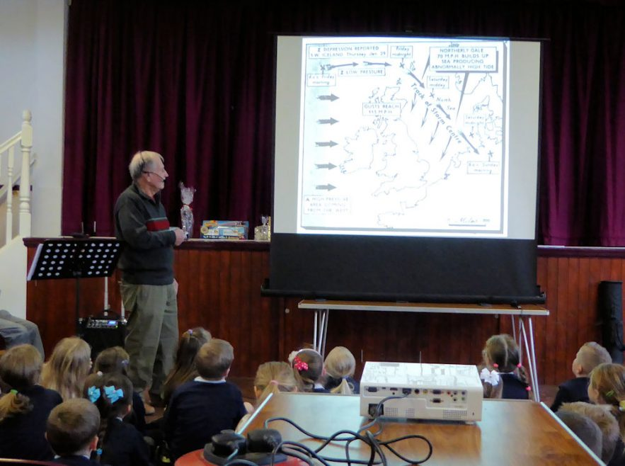 Graham Stevens explaining how it all began. | Janet Penn