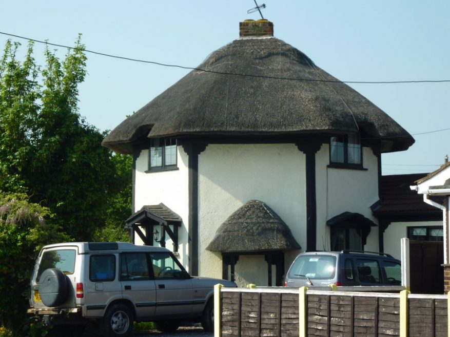 One of the thatched cottages as it is 2011. I think it is the middle one in the pictures above | Janet Penn