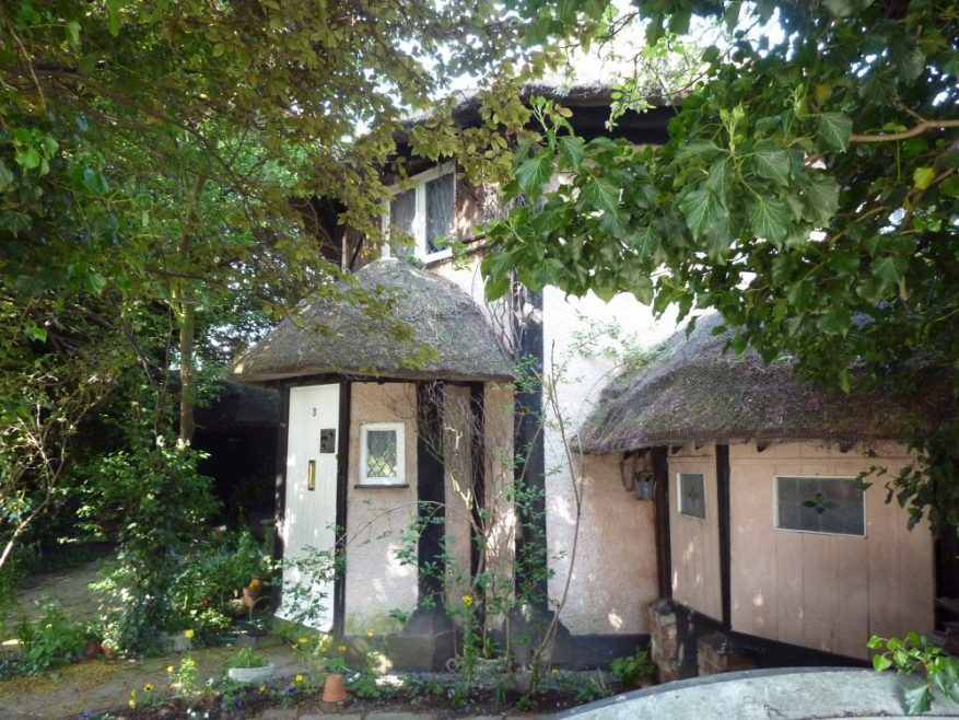 The other thatched cottage surviving today is very secluded not sure if anyone actually still lives there 2011. It looks like this one originally did not have a thatched roof. It definitely looks like the one without a thatched roof in the pictures above | Janet Penn