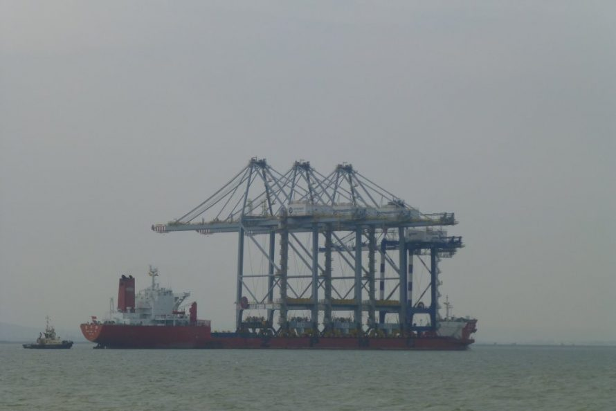 The cranes continuing its journey to the new port | Janet Penn