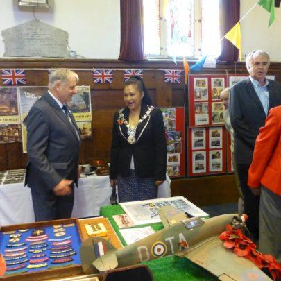 David with Mayor Maryse Iles | Janet Penn