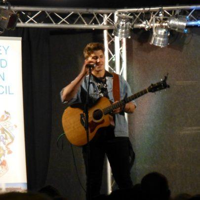 Luke Britnell on stage | Janet Penn