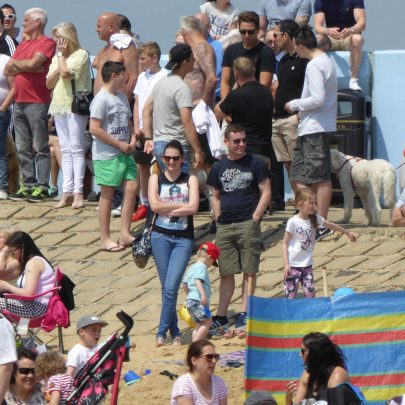 Thorney Bay was packed
