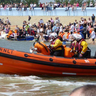 Coastguards on station