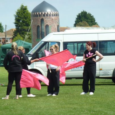 Laindon Suzettes getting ready for their display | Janet Penn