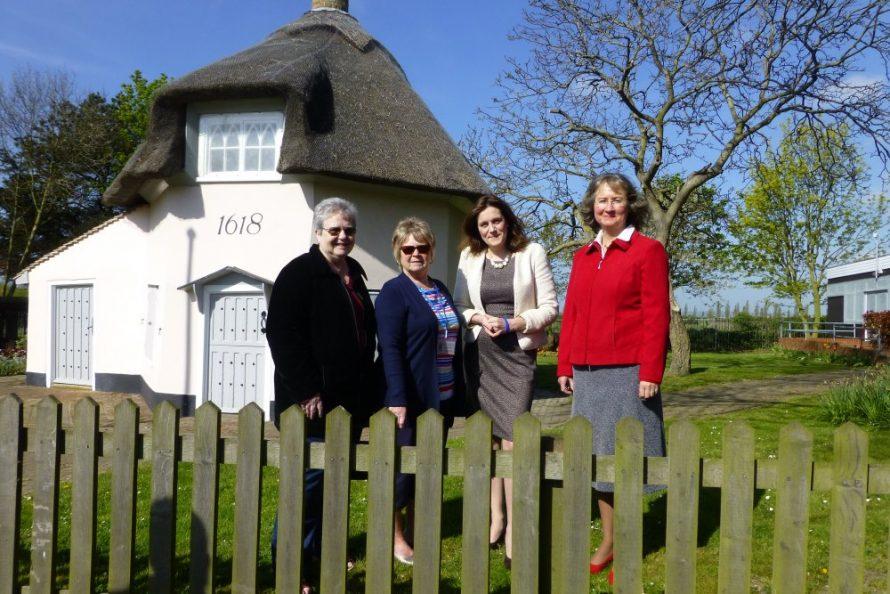 Janet Penn (Archive Editor), Joan Liddiard (Archive Chair), Rebecca Harris (CP MP), Janet Walden (Archive Secretary) | Teddy Harris