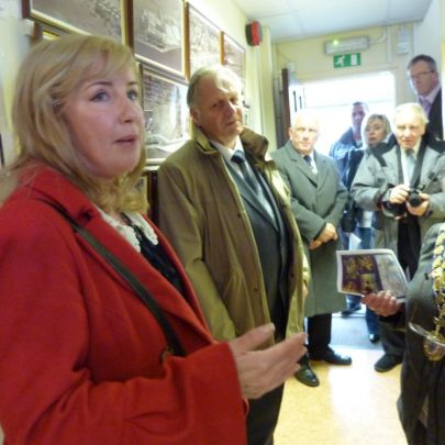 Jill Moss talks about her partner with the Mayor and Dave Thorndike one of the trustees of the museum and friend of Norman | Janet Penn