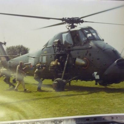 Norman in his helicopter 1983