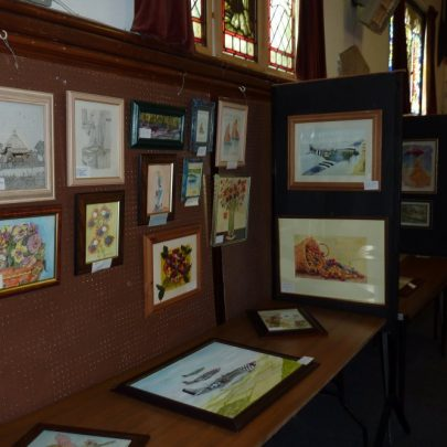Some of the painting for sale at the exhibition   Janet Penn
