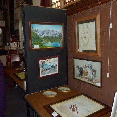 Jessica Thorndike with some of the exhibits   Janet Penn
