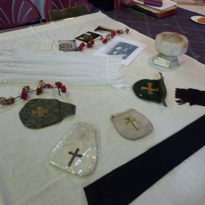 Some of the artifacts that were probably used in the church | Janet Penn