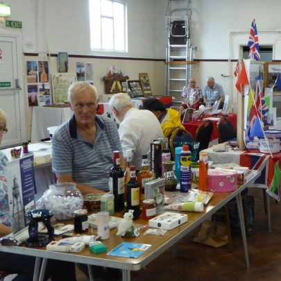 The Banthorps on our Tombola stall