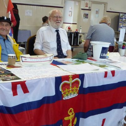 George Beecham and Don McClean and the RNLI and Heritage Centre Exhibit