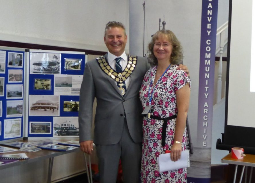 Castle Point Mayor Steve Cole and the Archives Chair Janet Walden