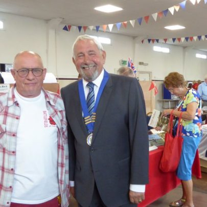 Canvey Town Mayor Martin Tucker and Allan Reed from the Bay Museum