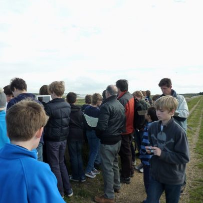 The boys were taken to the area where the seadefences first failed on that night in 1953   Janet Penn
