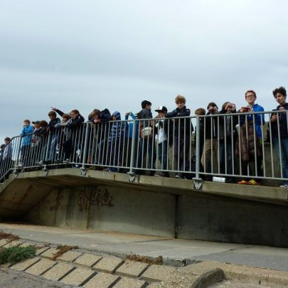 Showing them the Thames and Estuary before they left.   Janet Penn