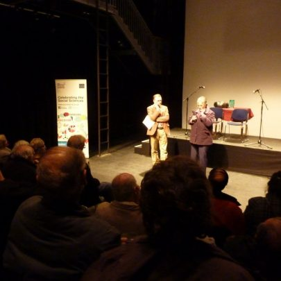 Martin Astell and one of the audience telling her story