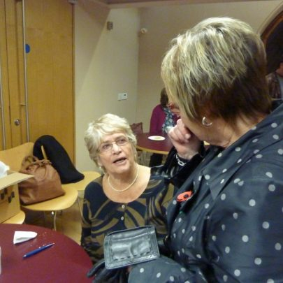 Patricia Rennoldson-Smith talking to Joan Liddiard