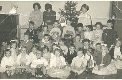 Methodist Church Christmas Party circa 1960