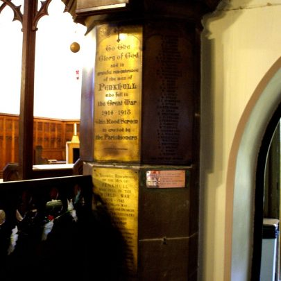 Penkhull War Memorial in Stock on Trent | The memorial is located in the parish church of St Thomas the Apostle