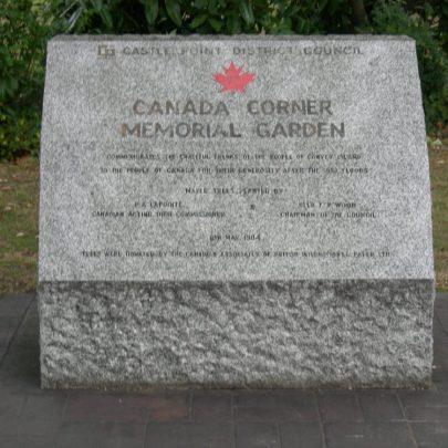 The new Canada Corner memorial at the Paddocks | Janet Penn