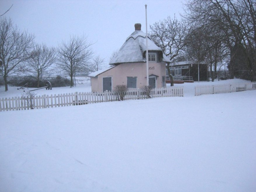 Dutch Cottage in the snow