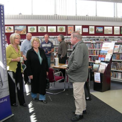 Barbara Roycroft with some of our visitors | Janet Penn