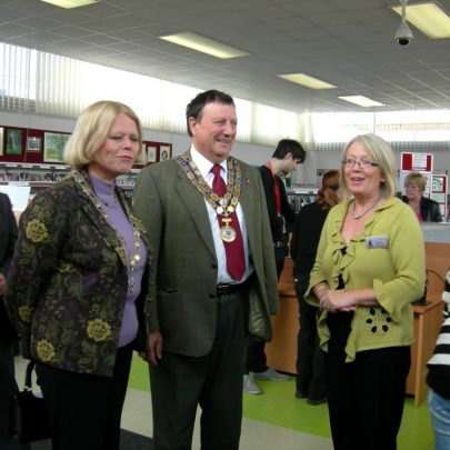 Barbara Roycroft with the Mayor | Janet Penn