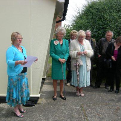 Joan Liddiard gives a speach | Janet Penn