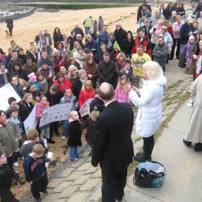Bob Spink and Lea Swann address the crowds | Steve Bullock