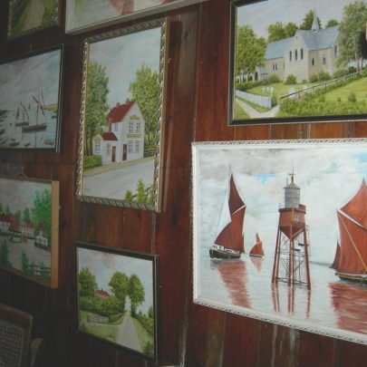 This part of the old church has been adapted into a picture gallery to commemorate Florence Pound wife of the late Frederick Pound | Janet Penn