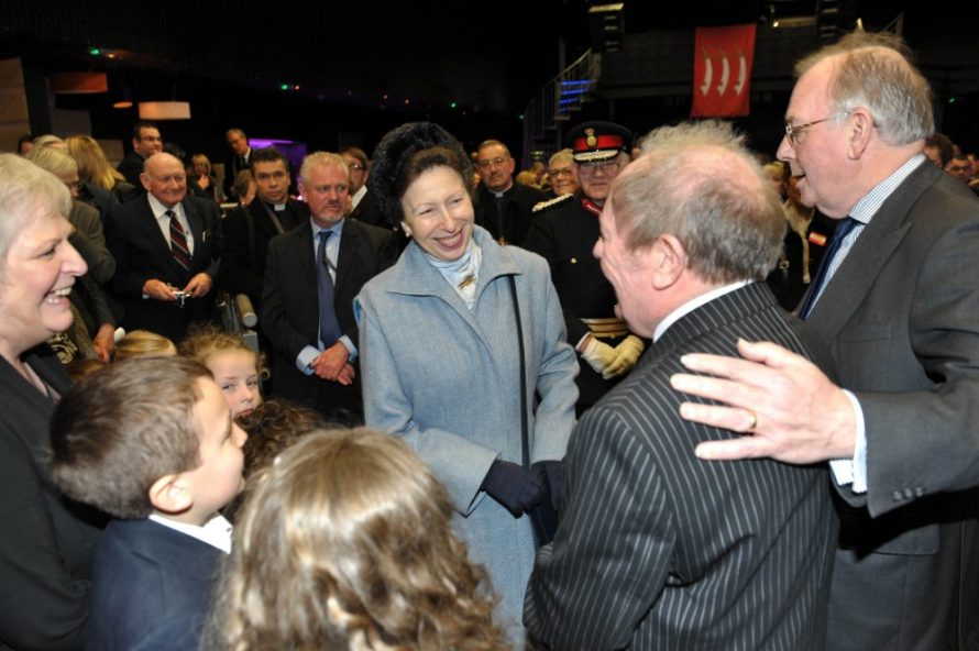 Ray Howard being presented to Princess Anne | Nick Strugnell