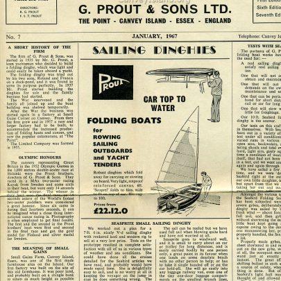 Folding Boat News No.7 - 1967 | Ian Hawks - Click to Read (Full Size)