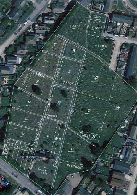 Graves Plan of St Katherine's
