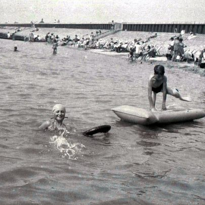 Paddling Pool and Beach 1950's | (c) 2010 Tricia Booth