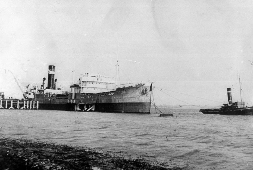 The Steam Tanker President Sergent docked at Canvey | Norman Chisman