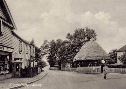 Village pump postcard