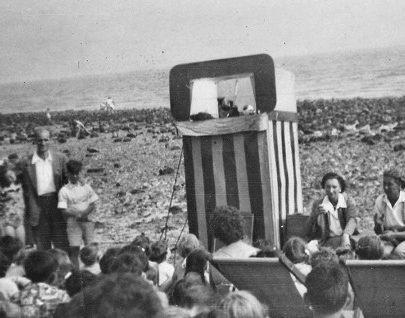 Punch & Judy on the Beach Circa 1955 | (c) 2010 Tricia Booth