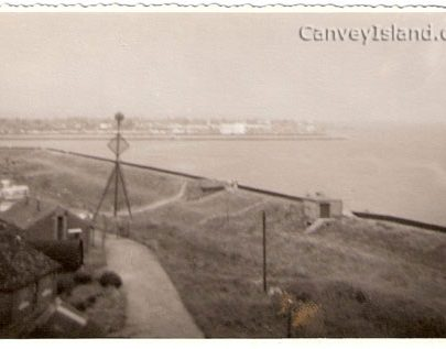 Thorney Bay Army Camp photographed from the Lookout Tower | Thanks to Peter Wonnacot