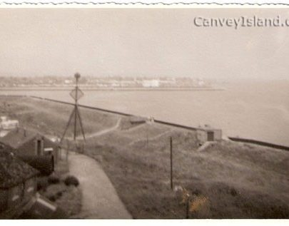 'The Canvey Lady' can be seen here at Thorney Bay Army Camp overlooking the sea wall | Peter Wonnacot