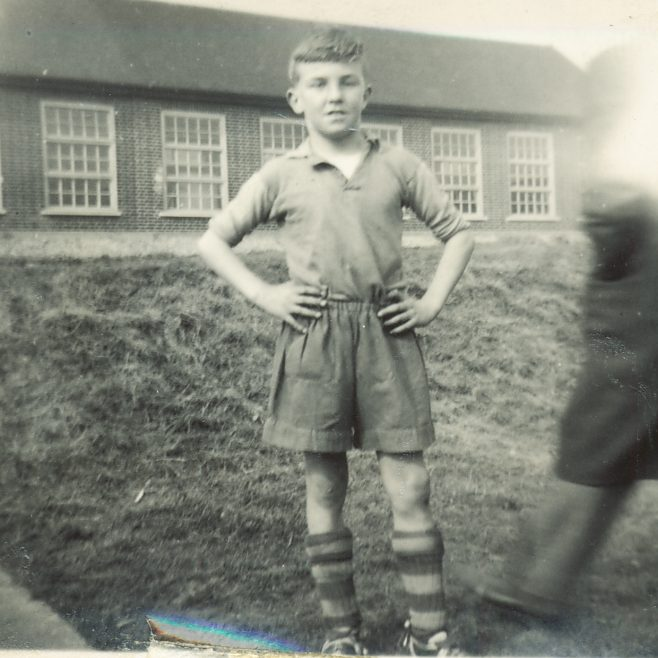 Barry Shepherd before a SE Essex game in front of the Long Rd Secondary School | Barry Shepherd
