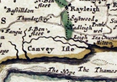 1720 map of Canvey