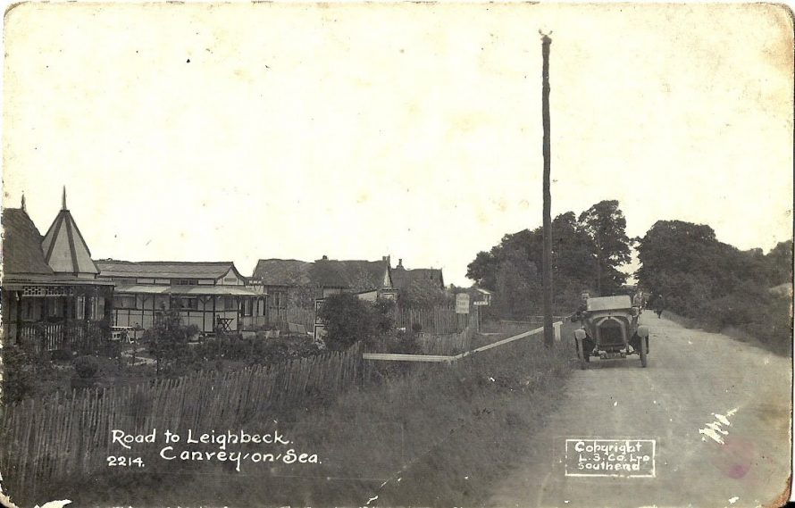 An early postcard. Is that Cricksea on the left? Can anyone date this picture, perhaps you could date the car?