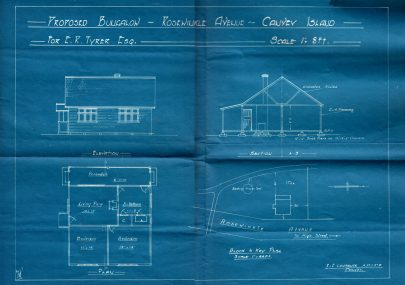 Blueprint of a Typical Canvey Bungalow c1930s