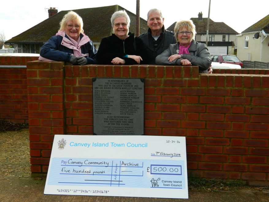 Town Council Chair Doreen Anderson and from the Archive, Janet Penn, Graham Stevens Acting Chair and Joan Liddiard | Courtesy of Canvey Town Council