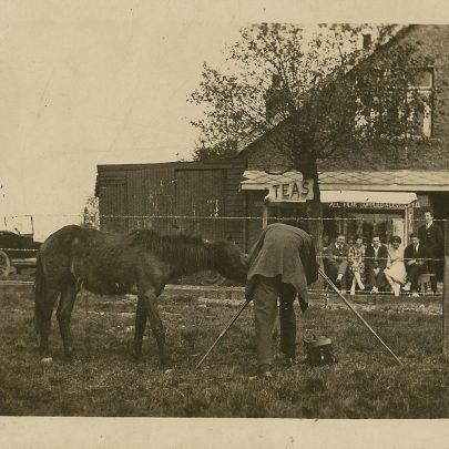 A scene outside Canvey Tearoom   John Hawes