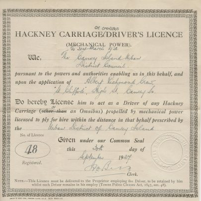 Licenced to Drive, 1927 | John Hawes